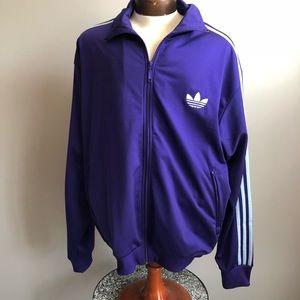 Adidas men's zip up track suit jacket